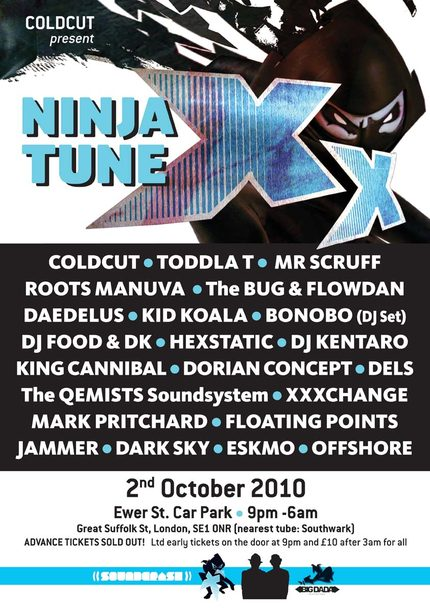 Ninja Tune XX London Ewer Street. Posted on 03/10/2010